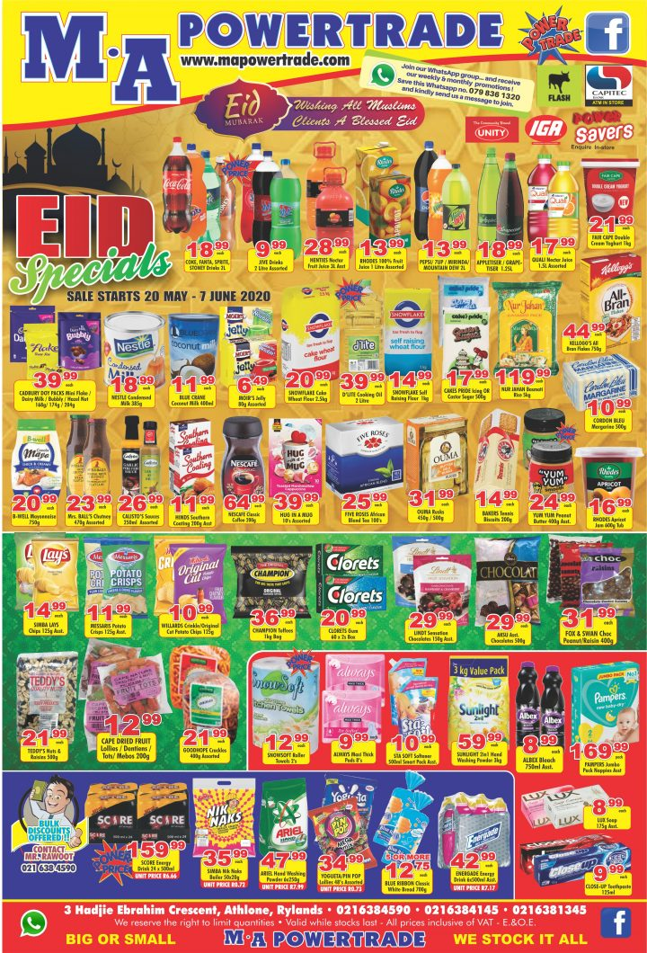 Eid Specials (20 May – 7 June)